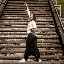 Emma, en av Dansa! i Faluns ledare